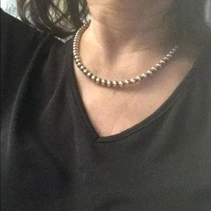 """Jewelry - 18"""" silver ball necklace."""